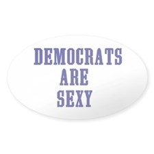 """Democrats are Sexy"" Decal"