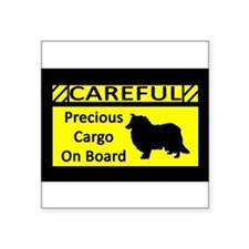 "Cute Breed specific Square Sticker 3"" x 3"""