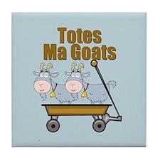 Totes Ma Goats Tile Coaster