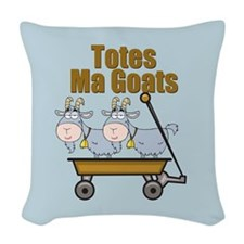 Totes Ma Goats Woven Throw Pillow
