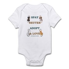 SPAY/NEUTER/ADOPT/LOVE Infant Bodysuit