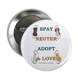 SPAY/NEUTER/ADOPT/LOVE Button