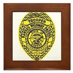 Kansas Highway Patrol Framed Tile