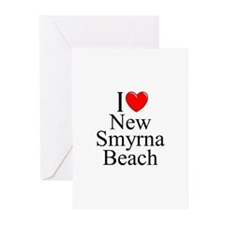 """""""I Love New Smyrna Beach"""" Greeting Cards (Package"""