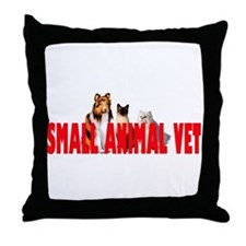 SMALL ANIMAL VET Throw Pillow