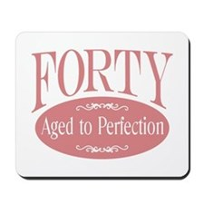 40th aged to perfection Mousepad