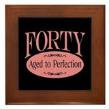 40th aged to perfection Framed Tile
