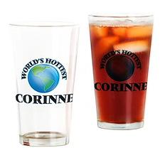 World's Hottest Corinne Drinking Glass