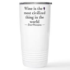 Unique Wine Stainless Steel Travel Mug