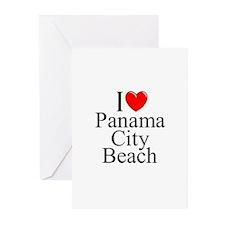 """I Love Panama City Beach"" Greeting Cards (Package"