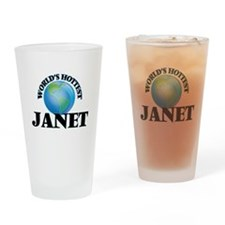 World's Hottest Janet Drinking Glass