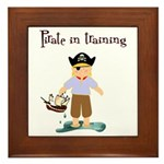 Pirate boy Framed Tile