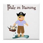 Pirate boy Tile Coaster