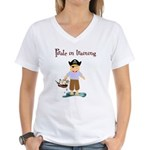 Pirate boy Women's V-Neck T-Shirt