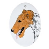 Fox Terrier Oval Ornament