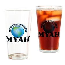 World's Hottest Myah Drinking Glass