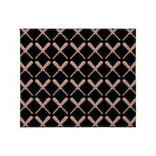 Baseball Bat Pattern Throw Blanket