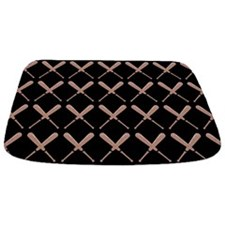 Baseball Bat Pattern Bathmat