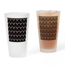 Baseball Bat Pattern Drinking Glass
