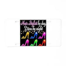 HAIR STYLIST DIVA Aluminum License Plate