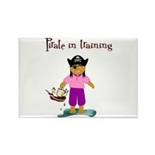 Pirate girl Rectangle Magnet (100 pack)