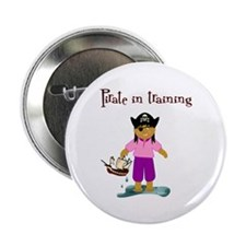 "Pirate girl 2.25"" Button (100 pack)"