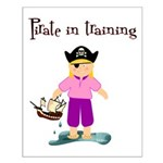 Pirate girl Small Poster