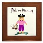 Pirate girl Framed Tile