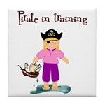 Pirate girl Tile Coaster