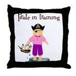 Pirate girl Throw Pillow