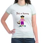 Pirate girl Jr. Ringer T-Shirt