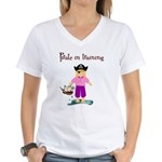 Pirate girl Women's V-Neck T-Shirt