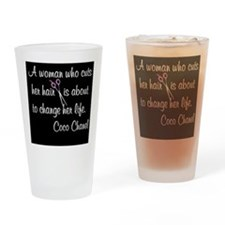 HAIR STYLIST QUOTE Drinking Glass