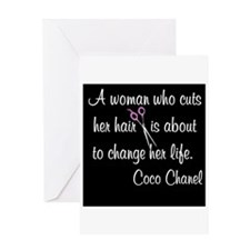 HAIR STYLIST QUOTE Greeting Card