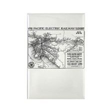 Red Car Map Rectangle Magnet (10 pack)