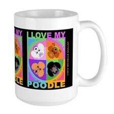 Dog Breed Graphics Poodles Mugs