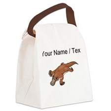 Custom Brown Platypus Canvas Lunch Bag