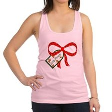 Cute Pregnancy christmas Racerback Tank Top