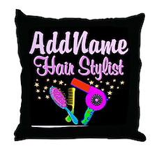 SUPER STAR STYLIST Throw Pillow