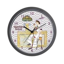 Tiffany Soda Fountain Coke Lady Wall Clock