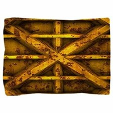Rusty Shipping Container - yellow Pillow Sham