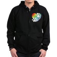 Rainbow Bridge Heart Zip Hoodie