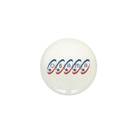 Obama (circle-stars)  Mini Button (10 pack)
