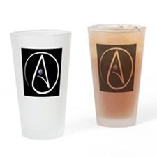 atheism earth Drinking Glass