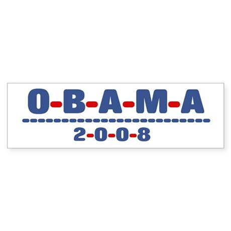 Obama 2008 (dash) Bumper Sticker