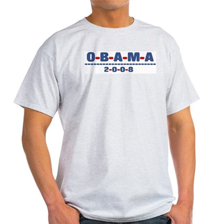 Obama 2008 (dash) Light T-Shirt