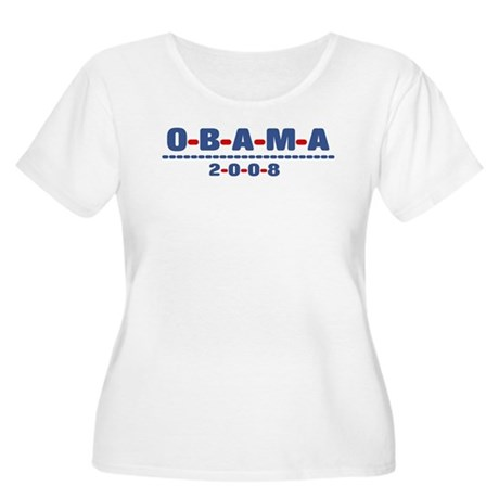 Obama 2008 (dash) Women's Plus Size Scoop Neck T-S