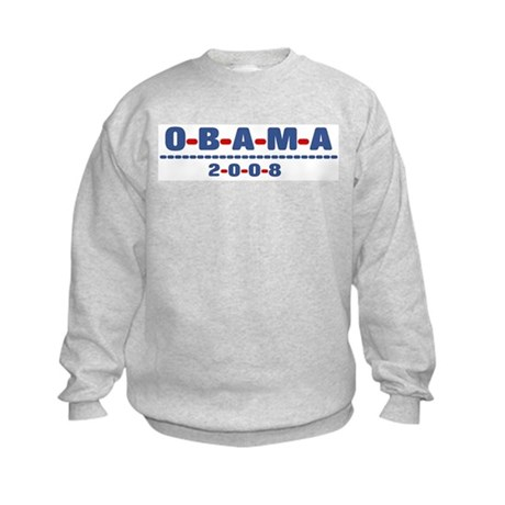 Obama 2008 (dash) Kids Sweatshirt
