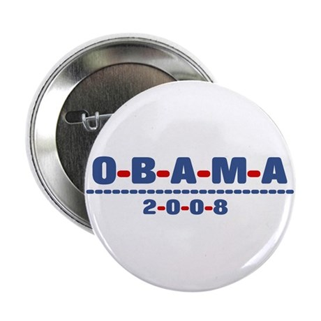 "Obama 2008 (dash) 2.25"" Button (10 pack)"