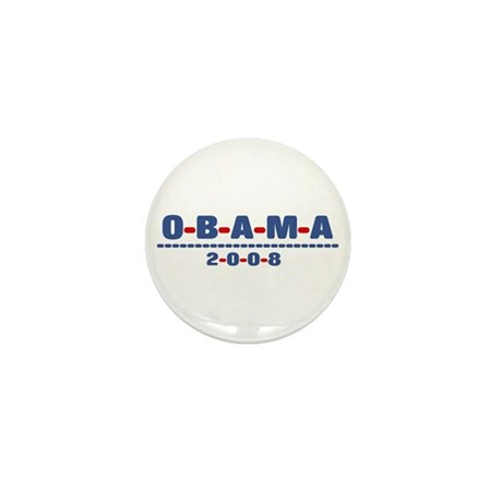 Obama 2008 (dash) Mini Button